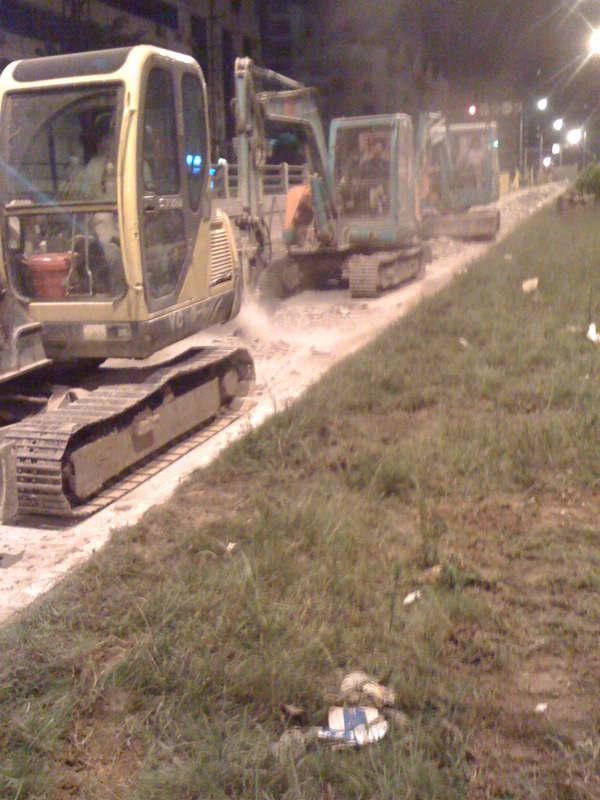 福州福飞路市政中压燃气工程管沟开挖